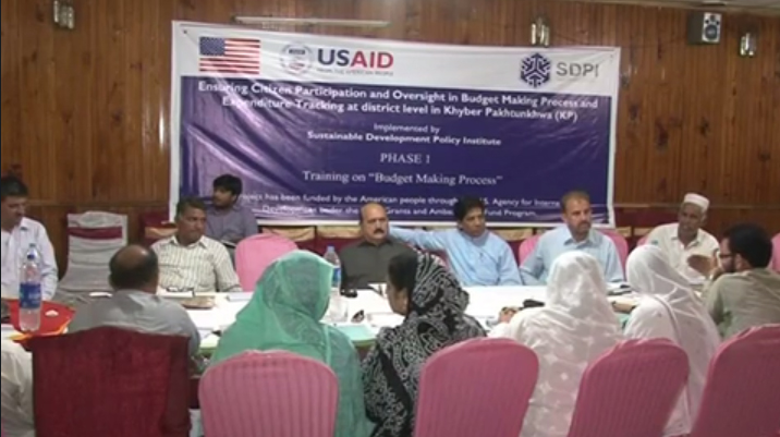 Training Workshop on Budget Making Process in Haripur --KP